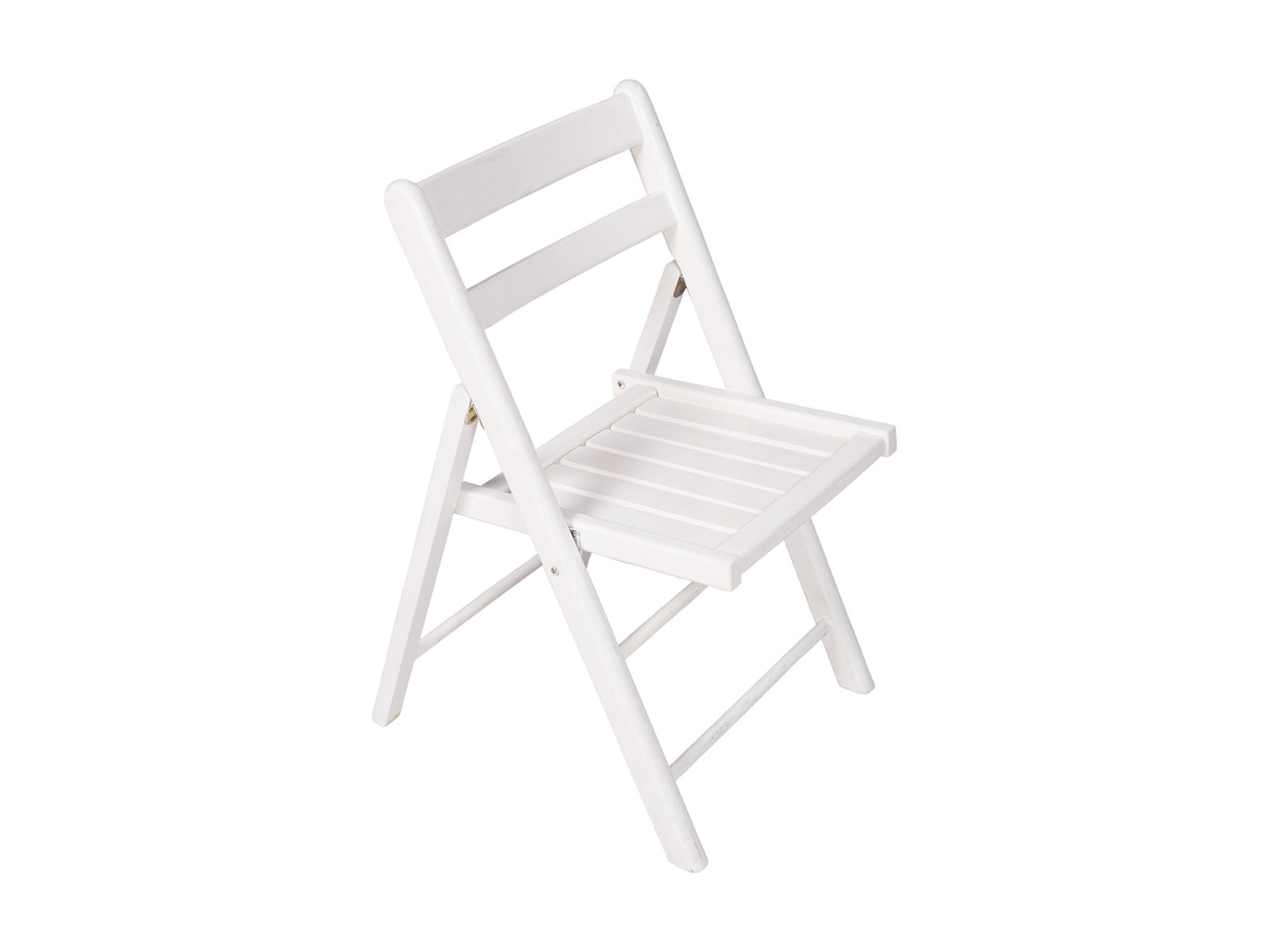 Folding Chair White Timber Celebrate Party Hire