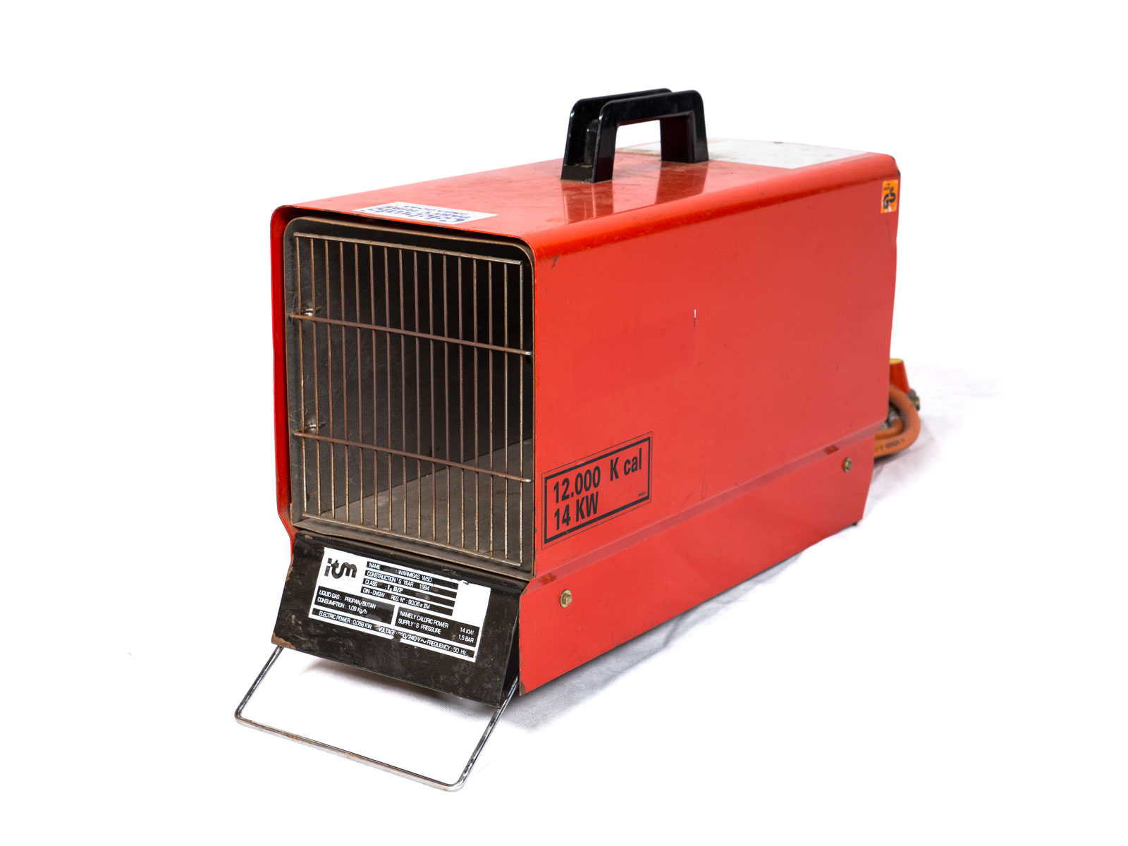 Gas Space Heaters With Blowers : Heater w gas bottle blower celebrate party hire