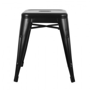 Low Tolix Stool - Black