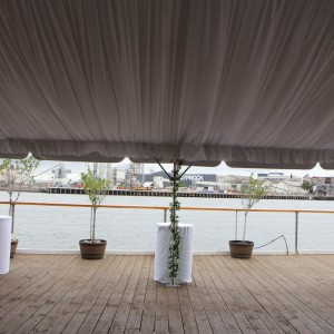 Marquee with liner, 6m x 12m, Peir 35