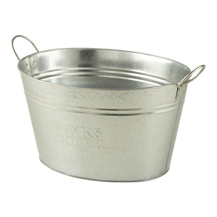 Ice Bucket Galvanised Medium Oval Celebrate Party Hire