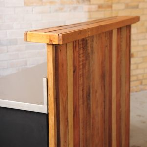 Bar - Reclaimed Timber - Side view