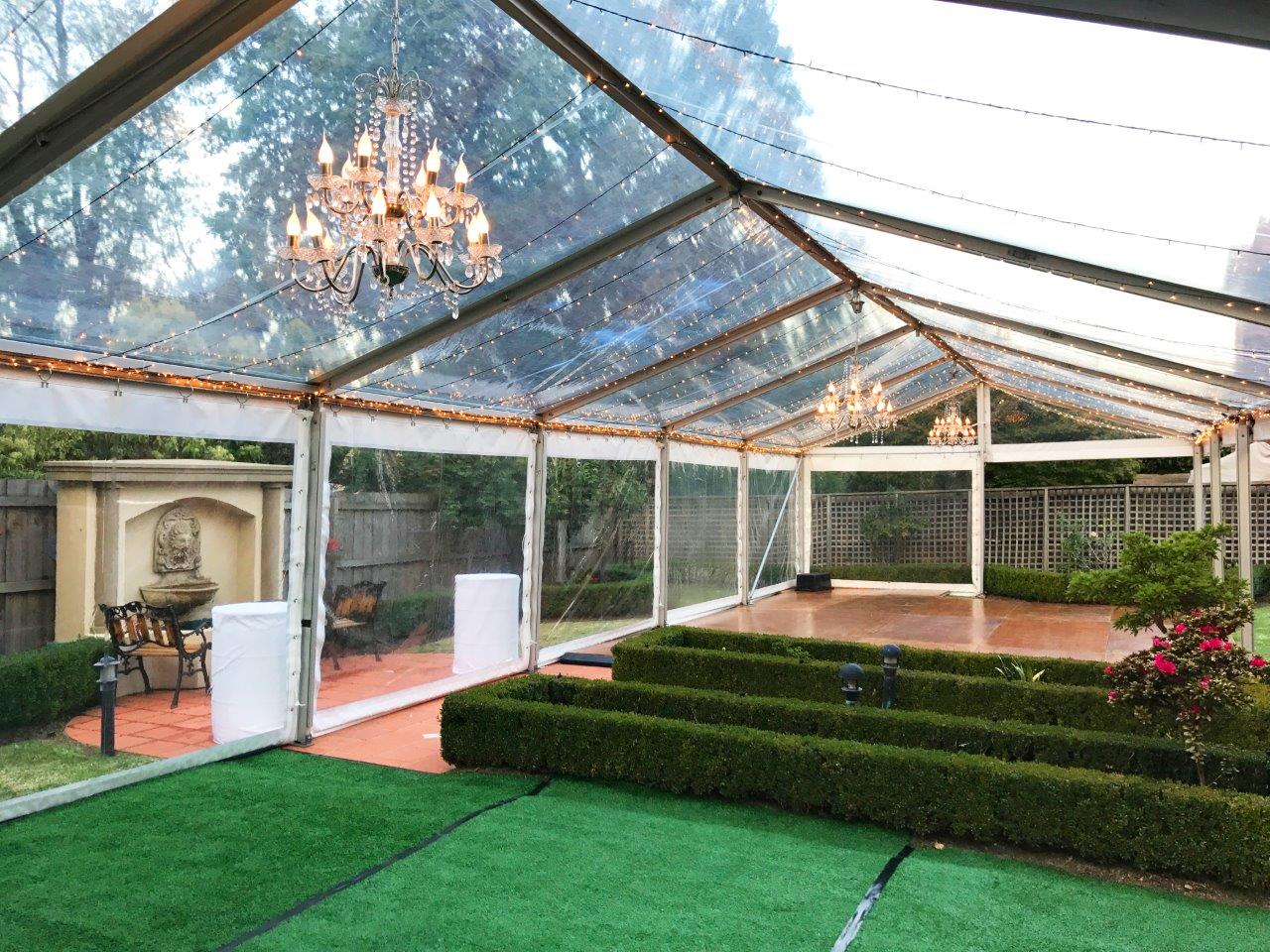 Transform your outdoors with our marquee hire